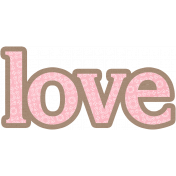 Mom Word Art Love