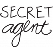 Dad Word Art Secret Agent