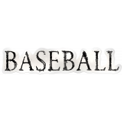 Baseball Sticker Word Art