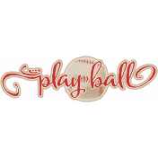 Baseball Word Art Play Ball