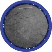 School Tag Circle Blue