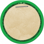 School Tag Circle Green
