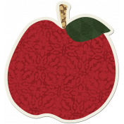 Crisp Fall Air Sticker Apple Red
