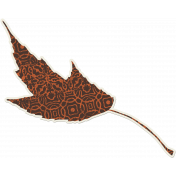 Crisp Fall Air Sticker Leaf 03