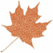 Crisp Fall Air Sticker Leaf 05