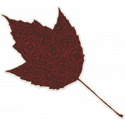 Crisp Fall Air Sticker Leaf 06