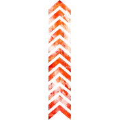 Football Stamp Chevron Orange
