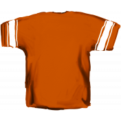 Football Jersey Back Orange
