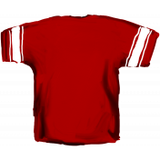 Football Jersey Back Red