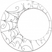 Spook Frame Circle Web