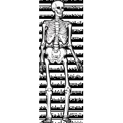 Spook Skeleton Black Outline