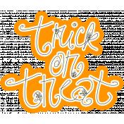 Spook Word Art Trick or Treat Orange