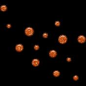 Spook Dots Glitter Orange