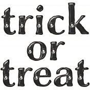 Spook Word Art Trick or Treat Gloss