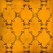 Spook Paper Damask Orange