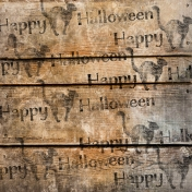 Spook Paper Wood Stamped