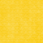 Spook Paper Damask 001 Distressed Yellow