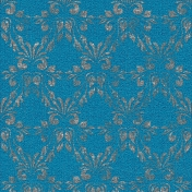 Touch of Sparkle Christmas Paper Damask Blue