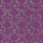 Touch of Sparkle Christmas Paper Damask Purple