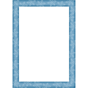 Touch of Sparkle Christmas Frame Blue