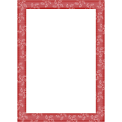 Touch of Sparkle Christmas Frame Red