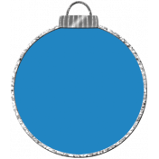 Touch of Sparkle Christmas Ornament Blue 01