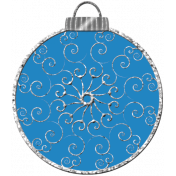 Touch of Sparkle Christmas Ornament Blue 04