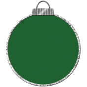 Touch of Sparkle Christmas Ornament Green 01