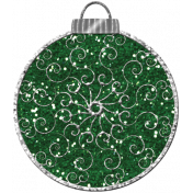 Touch of Sparkle Christmas Ornament Green Glitter 02