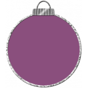 Touch of Sparkle Christmas Ornament Purple