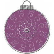 Touch of Sparkle Christmas Ornament Purple 02