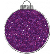 Touch of Sparkle Christmas Ornament Purple Glitter