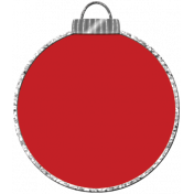 Touch of Sparkle Christmas Ornament Red