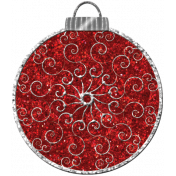 Touch of Sparkle Christmas Ornament Red Glitter 02