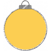 Touch of Sparkle Christmas Ornament Yellow