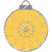 Touch of Sparkle Christmas Ornament Yellow 02