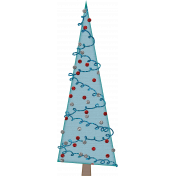 Touch of Sparkle Christmas Tree Blue