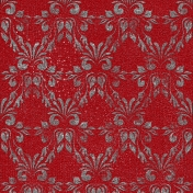 Winter Wonderland Mini- Paper Damask Red