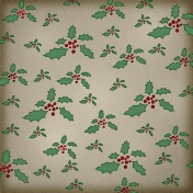 Winter Wonderland Mini- Paper Holly Green