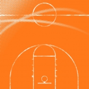 Basketball Paper Court- Orange