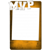 Sports MVP Card- Orange