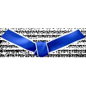 Ribbon Knot- Blue
