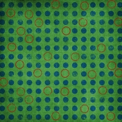 Paper Dots Circles Distressed Green Blue Red