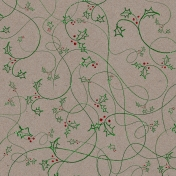 Touch of Sparkle Christmas Paper Holly