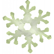 Snow Day Snowflake Green 002