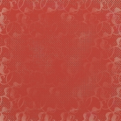 Snow Day Damask Dots Red Paper