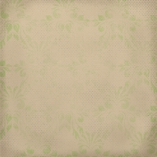 Snow Day Green Damask Tan Paper