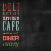 Kitchen Paper Chalkboard Words Color