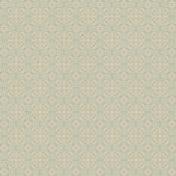 Kitchen Paper Ornament 001- Tan Blue