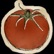 Kitchen Sticker Tomato Stained